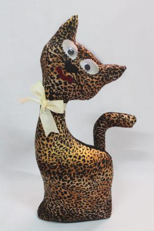 Gato de tela coleccion leopardo