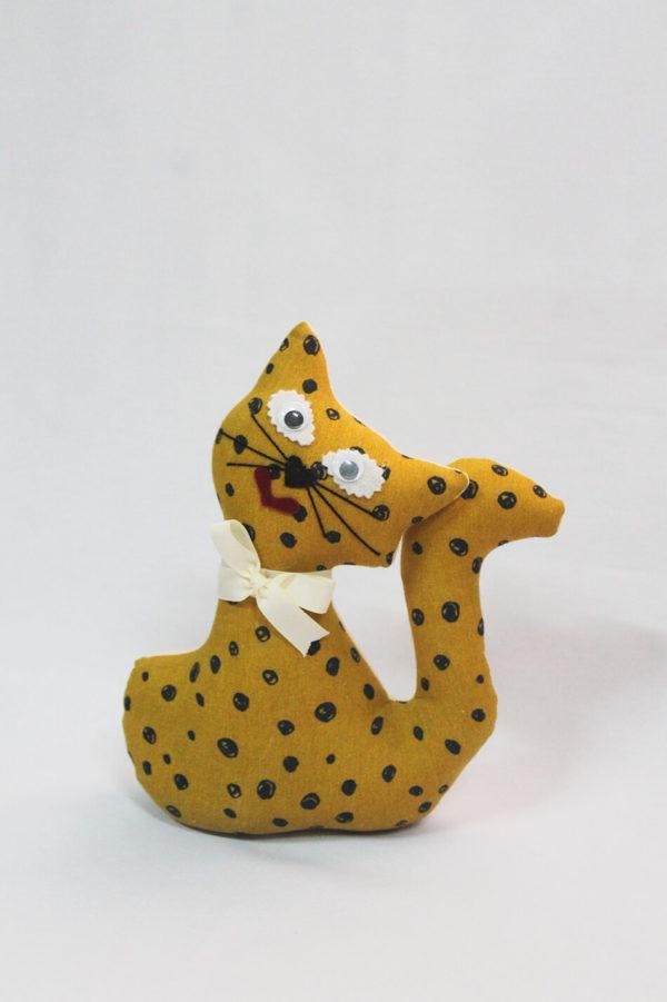 Gato de tela - Colección Mostaza