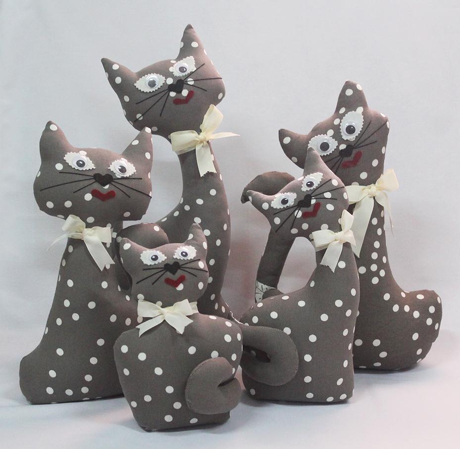 Colección Lunares - Gatos de tela