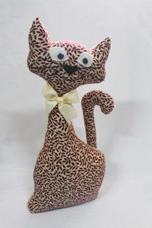 Gato de tela Hojas - Modelo Grandote XL